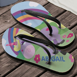 Personalized Unicorn Flip Flops