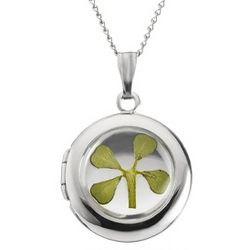 Sterling Silver Four Leaf Clover Locket