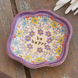 Be Happy Artisan Trinket Dish