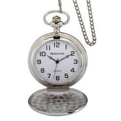 Personalized High Polish Pocket Watch with Braided Chain