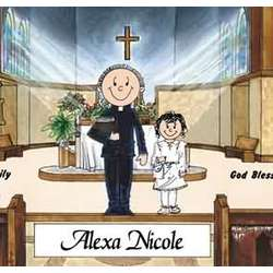 Communion Personalized Cartoon