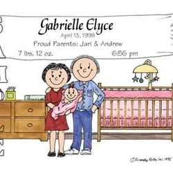 New Baby Friendly Folks Personalized Cartoon