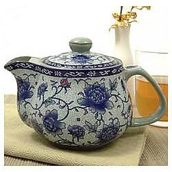 Vintage Peonies Teapot