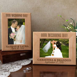 Personalized Our Wedding Day Wooden Picture Frame