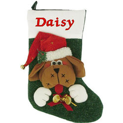 Personalized Dog Stocking with Jingle Bells