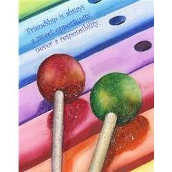 Lollipop Friendship Customized Art Print