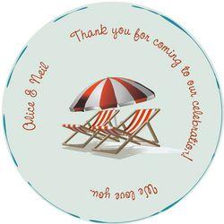 Nautical Beach Chair Dance Floor Decal