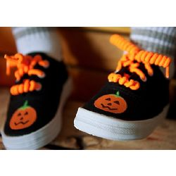 Black Halloween Pumpkin Sneaker