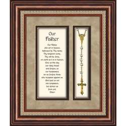 Our Father with Rosary Framed Print