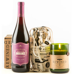 Pinot Noir and Rewined Candle Gift Set