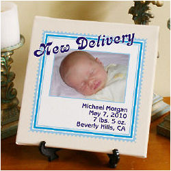 New Delivery Personalized New Baby Canvas Art Print