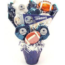Dallas Cowboys Fan CookiePot Bouquet