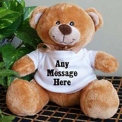 Custom Message Teddy Bear