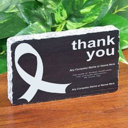 Thank You Ribbon Marble Plaque