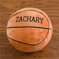 Personalized Plush Basketball Pillow