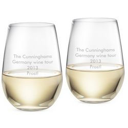 Riedel O Stemless Riesling Sauvignon Blanc Glasses