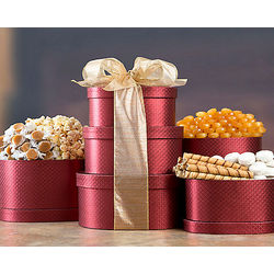 Exquisite Popcorn and Candy Gift Tower