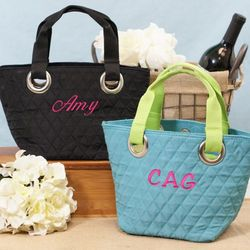 Personalized Mini Quilted Tote Bag