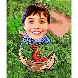 Your Photo in a Harvest Caricature