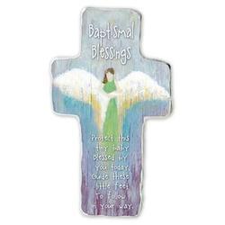 Guardian Angel Purple Baptismal Blessings Cross
