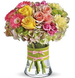 Fashionista Assorted Flower Blooms Bouquet in Vase