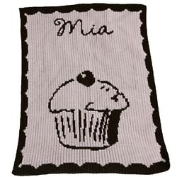 Baby's Personalized Cupcake Stroller Blanket