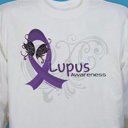 Lupus Awareness Long Sleeve T-Shirt with Custom Message