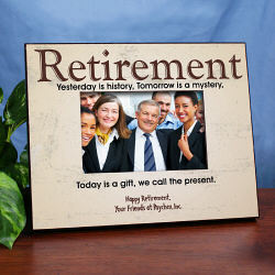 Yesterday is History Personalized Retirement Frame