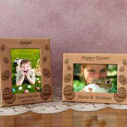 Personalized Easter Eggs Wooden Picture Frame