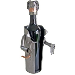 Handmade Dentist Recycled Metal Wine Caddy