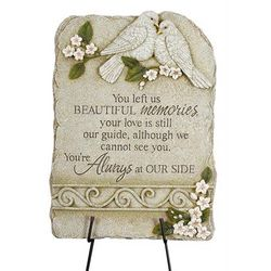 Beautiful Memories Memorial Marker with Stand
