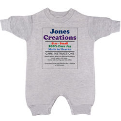 Personalized Fun Fleece Romper