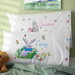 Personalized Kid's Easter Pillowcase