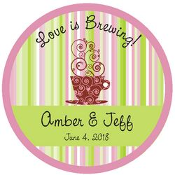 Love is Brewing Wedding Floor Decal