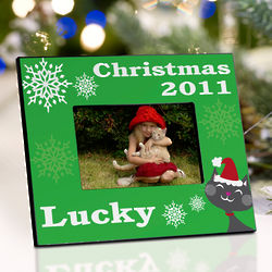 Personalized Purr-fect Christmas Picture Frame
