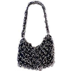 Shimmery Night Soda Pop Top Shoulder Bag