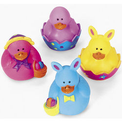 Mini Easter Rubber Duckies