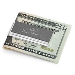 Matte Grey Tri Tone Money Clip