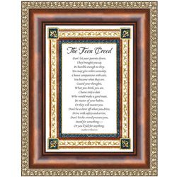 Teen Creed Framed Print