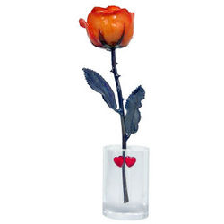 8 Inch Mother's Day Rose with Oval Vase