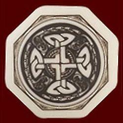 Celtic Cross Octagon Porcelain Pendant
