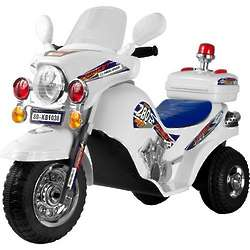 White Lightning Police Cruiser Riding Toy