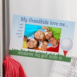 Grandkids Love Me Personalized Photo Magnet