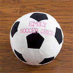 Personalized Soccer Ball Plush Pillow