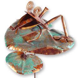Copper Frog Garden Stake