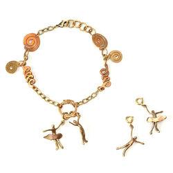 Bronze Family Figurine Bracelet