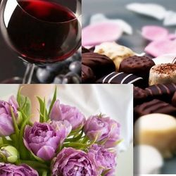 Flowers, Chocolate and Wine Sweethearts Special of the Month Club