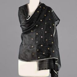 Stars Over Lucknow Cotton and Silk Shawl