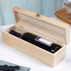 Homespun Personalized Wood Wine Box