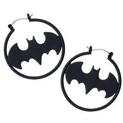 Batman Symbol Earrings